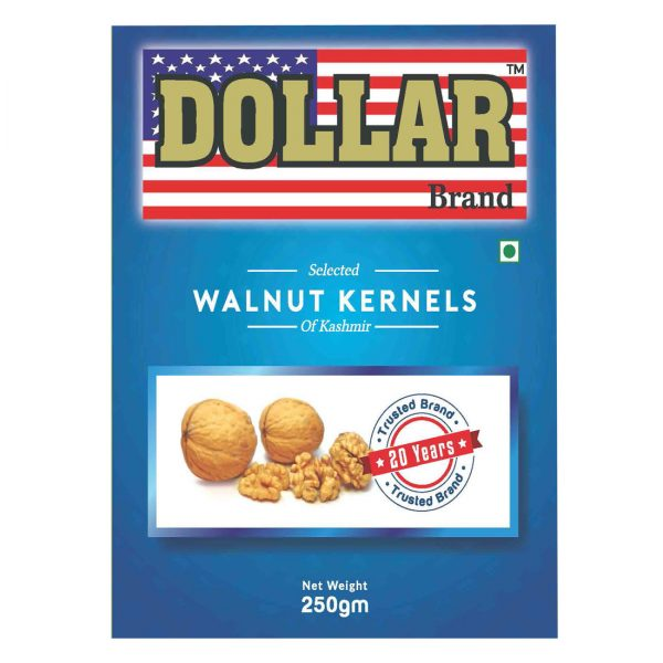 Dollar Brand Selected Walnut Kernels of kashmir -250g