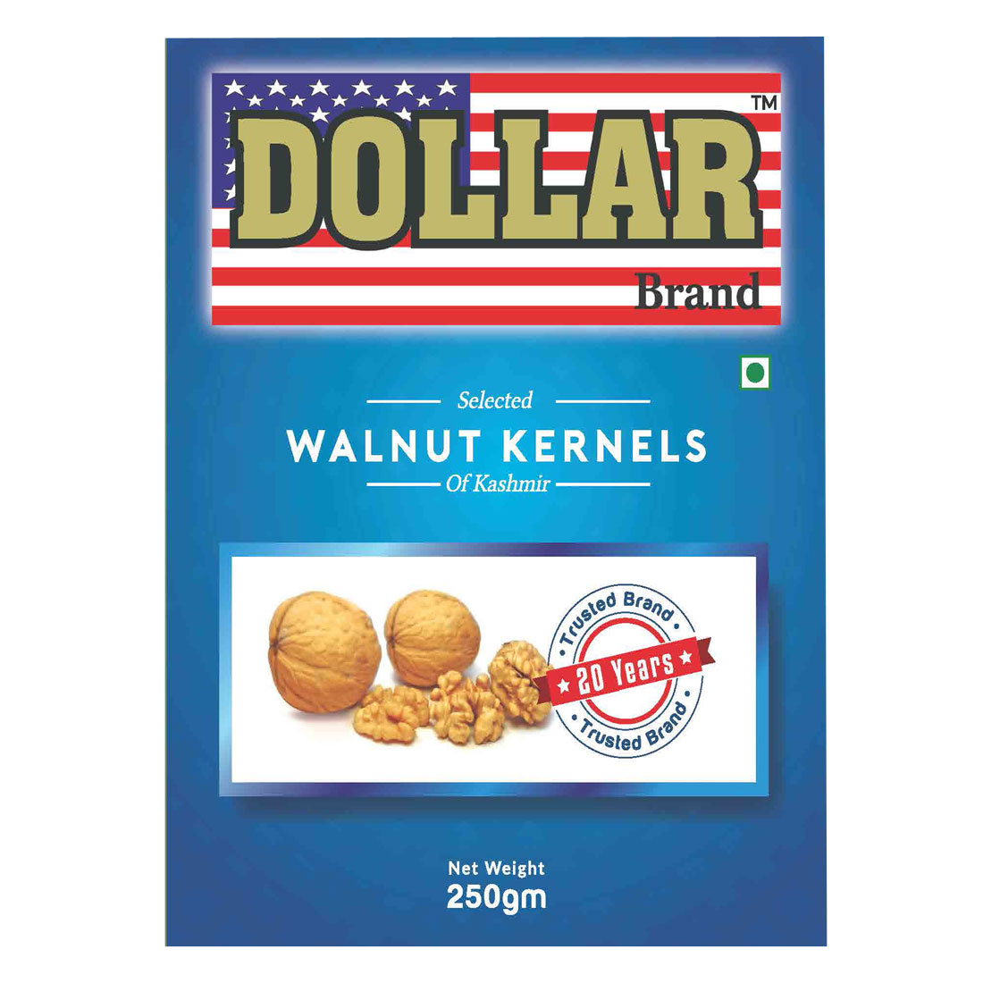 Dollar Brand Selected Walnut Kernels of kashmir -250g