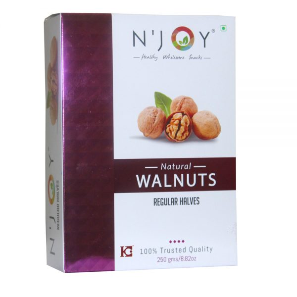 N'Joy Natural Regular Halves Walnuts Kernels 250 Gm
