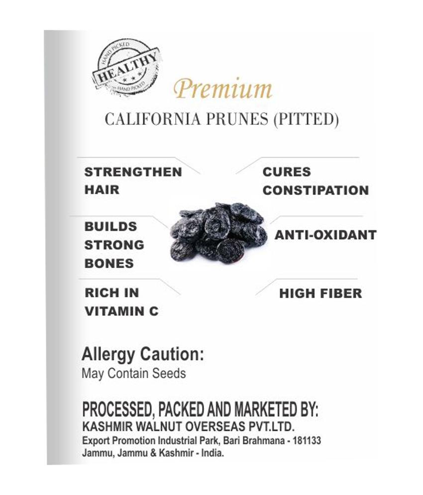 Premium Dried Prunes(Pitted)-100 gram