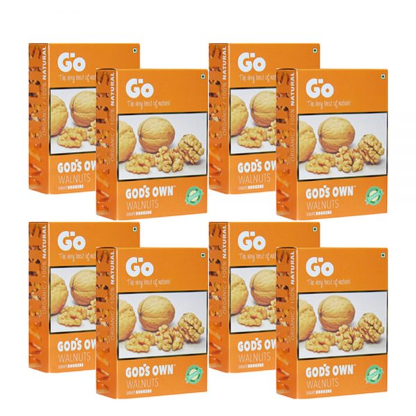 GO Organic Light Broken Walnuts 2 KG (250gm X 8)-Without Shell.