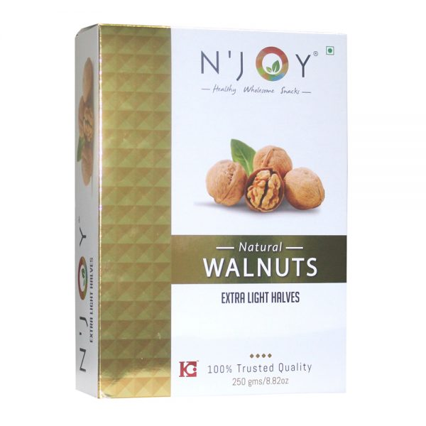 N'Joy Natural Extra Light Halves Walnuts Kernels 250 Gm