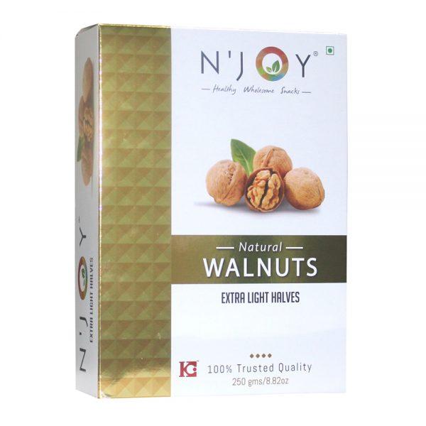 N'Joy Natural Extra Light Halves Walnuts Kernels 250 Gm