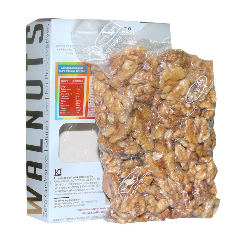 N'Joy Natural Regular Halves Walnuts Kernels 250 Gm