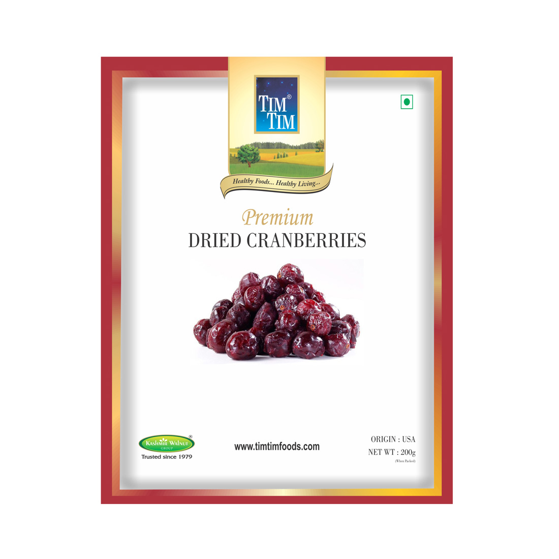 Tim Tim Premium Dried Cranberry - 200gm