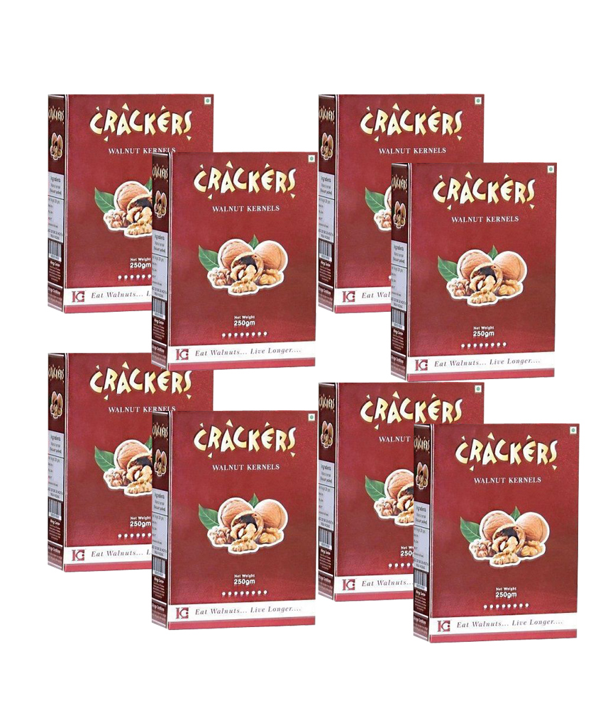 Go Crackers Kashmiri Brown Walnuts kernels Without Shell 2kg (250gm x 8)