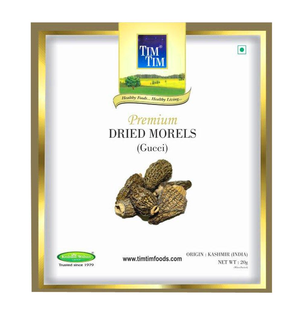 Organic Kashmir Morel Mushroom 20gm (Gucci Mushroom)