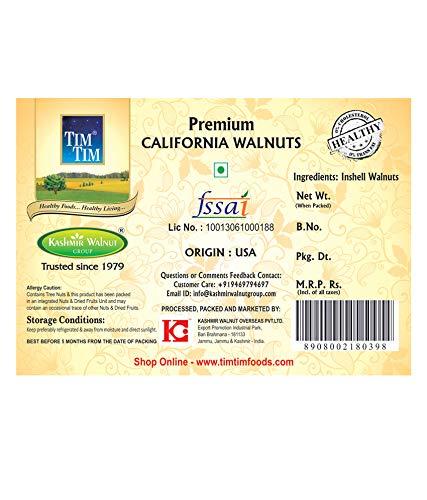Tim Tim California Walnuts Inshell 900 Gram