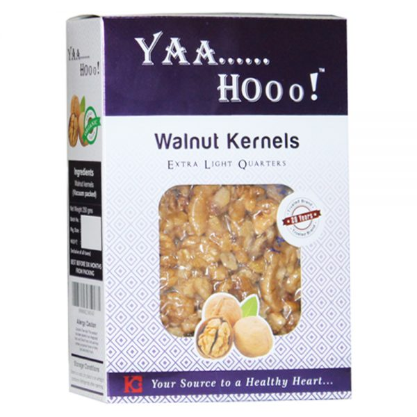 Yaahoo ! Extra Light Quarters Walnuts Kernels 250 gm